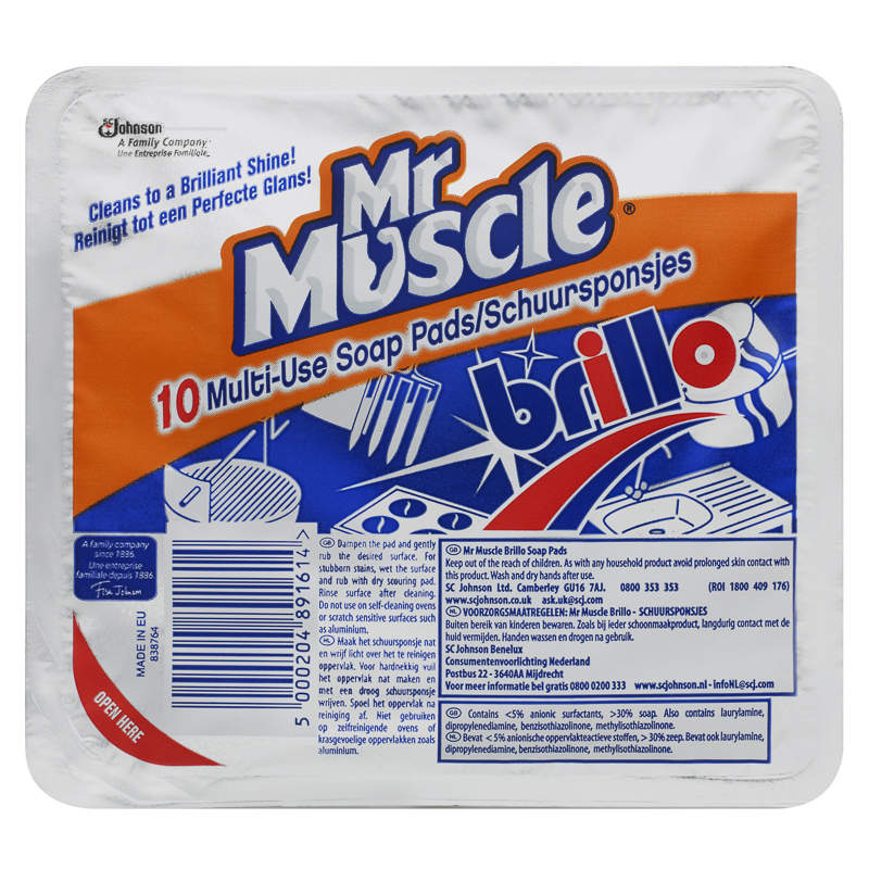B m mr muscle brillo soap pads 178155 b m for Mr muscle idraulico gel