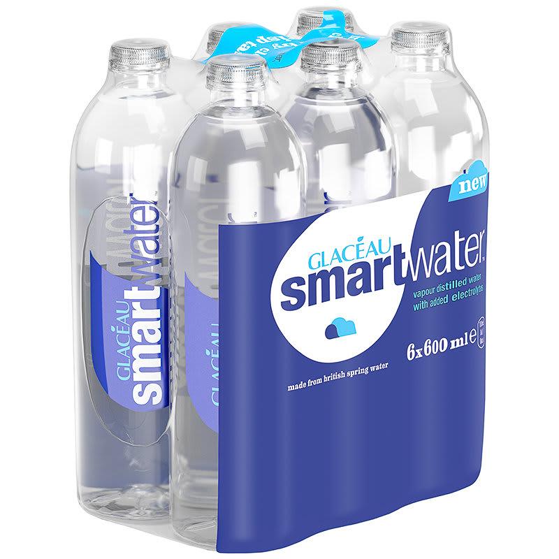 Glaceau Smartwater 6 X 600ml Water Spring Water