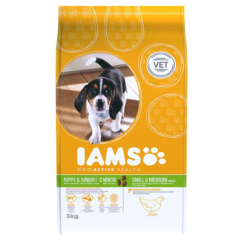 Iams Puppy Junior Dry Dog Food 3kg Chicken Pet Food Bm