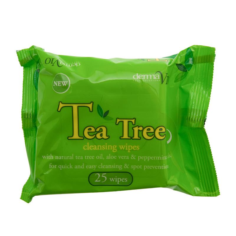 Tea tree cleansing wipes