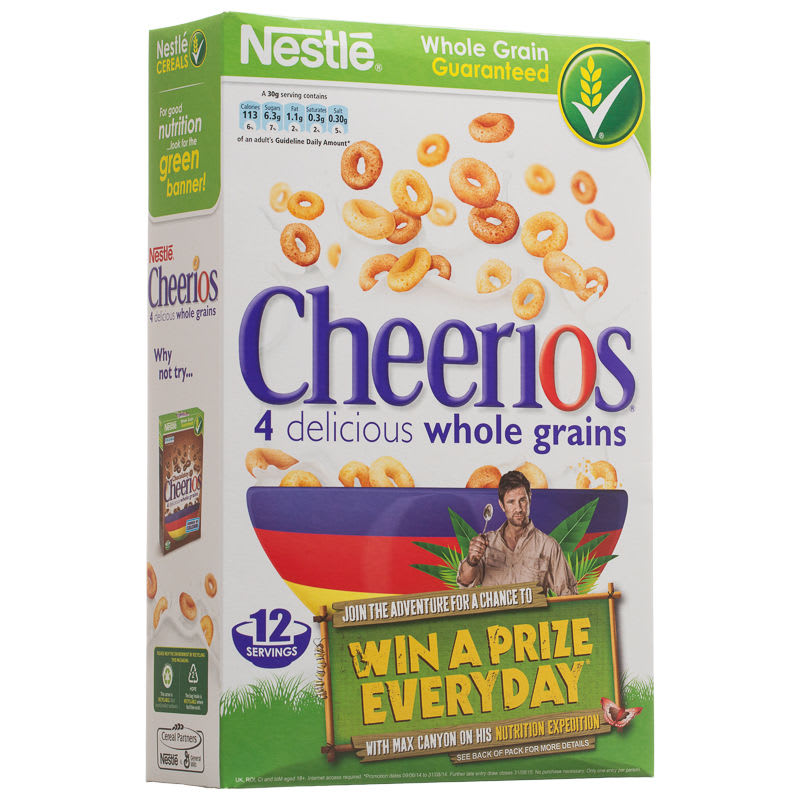 Nestle Cheerios 375g Cereal Breakfast