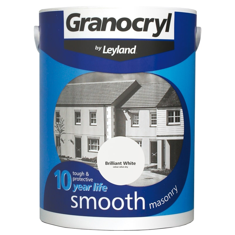 Granocryl Smooth Masonry Paint - Brilliant White 2.5L