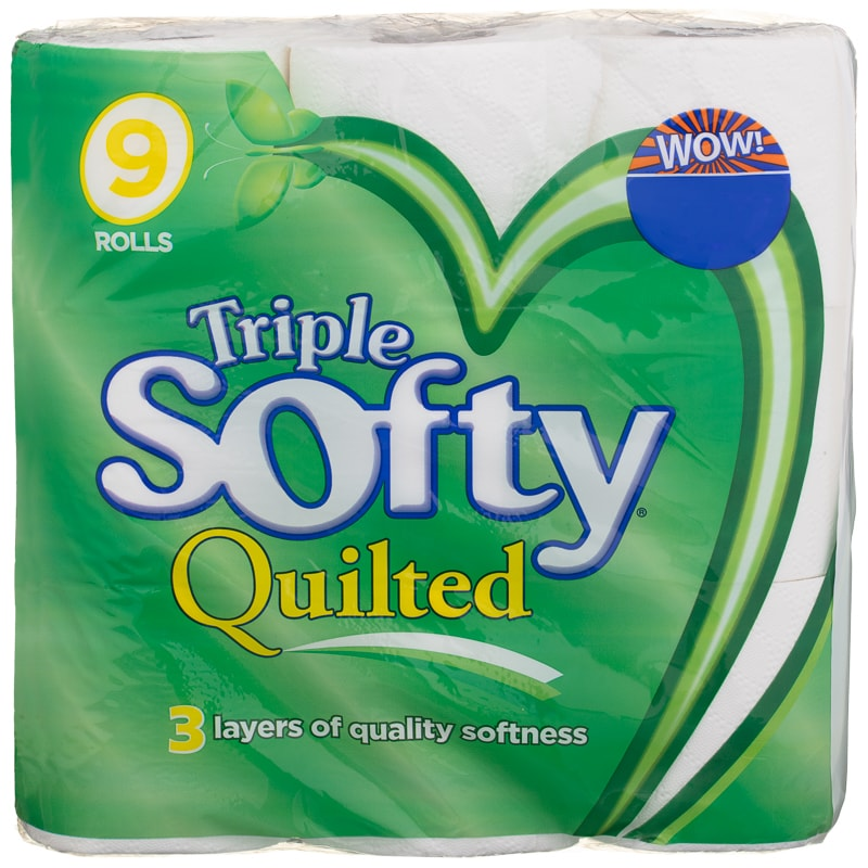 Triple Softy Toilet Roll 9pk | Bathroom Essentials ...