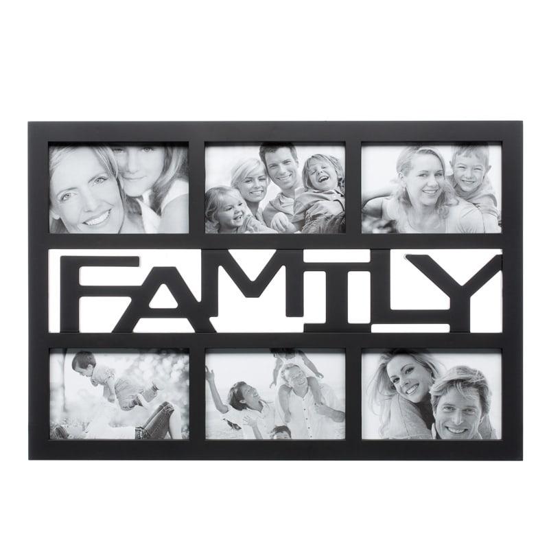 B Amp M 6pc Word Multi Frame Black Family 2285921