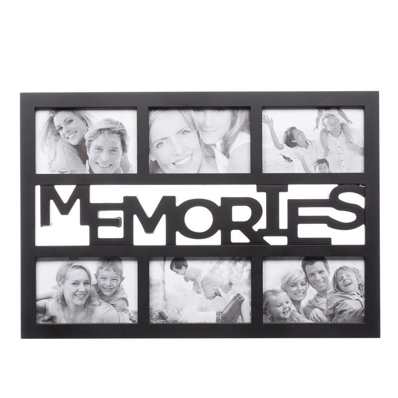 B Amp M 6pc Word Multi Frame Black Memories 2285923