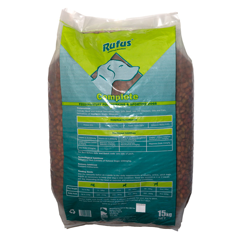 Rufus Complete Working Dog Food