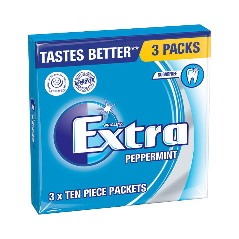 Wrigley S Extra Chewing Gum Peppermint 3 X 10pcs 230888
