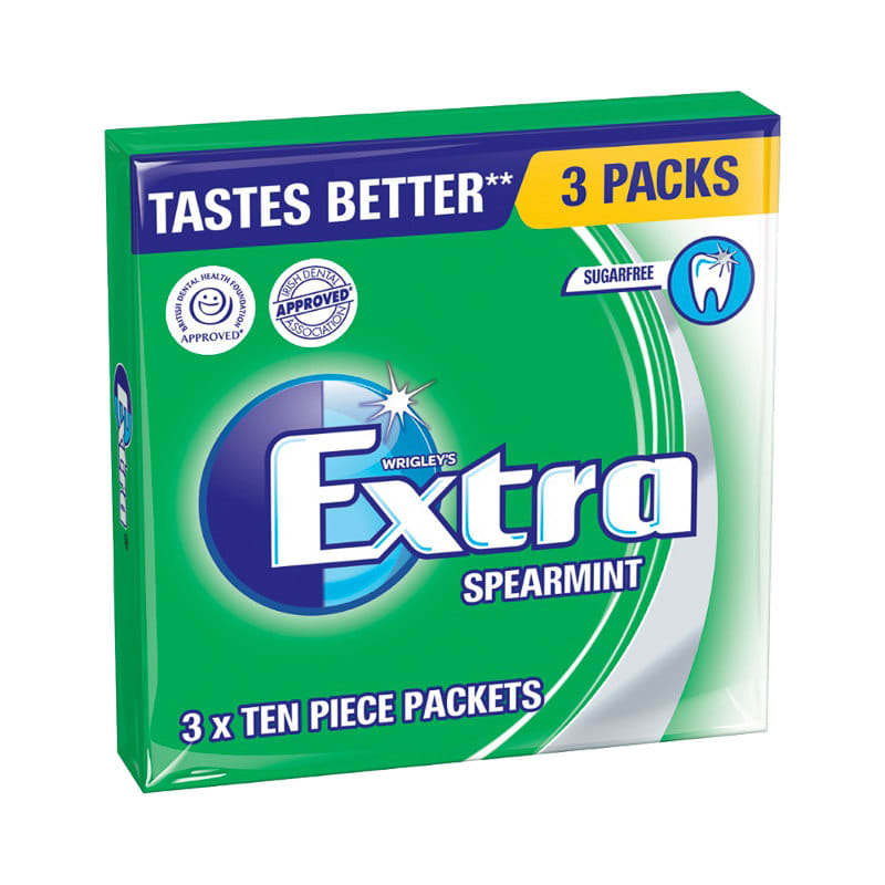 Wrigley S Extra Chewing Gum Spearmint 3 X 10pcs 230889