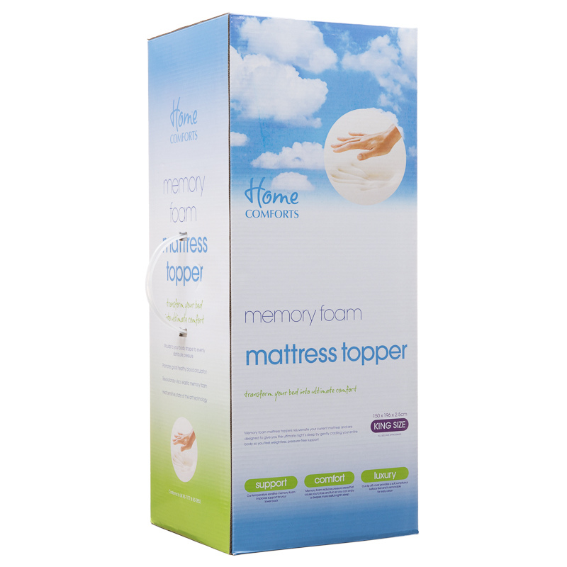 B&M Memory Foam Mattress Topper King