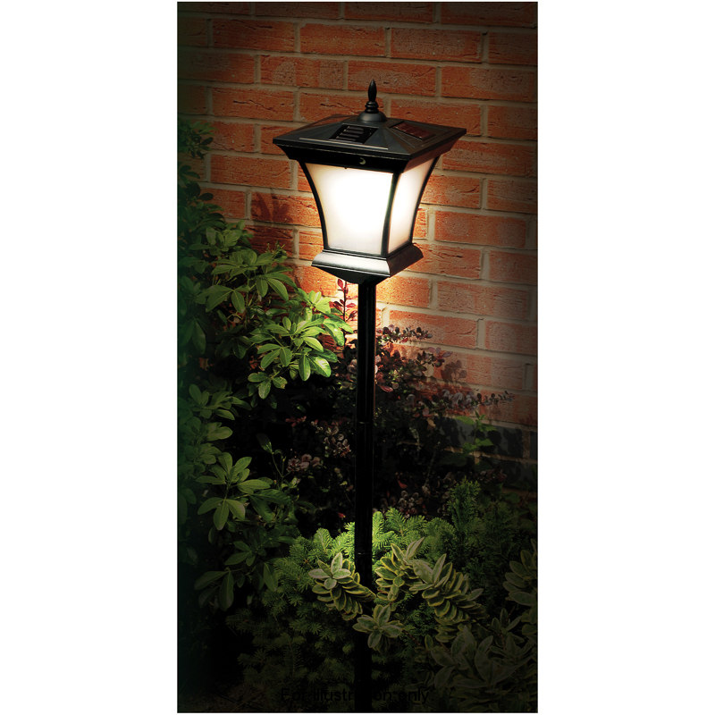 Solar powered garden lamp post 13m lights ornaments 318722 130cm solar garden lamp post 2 aloadofball Image collections