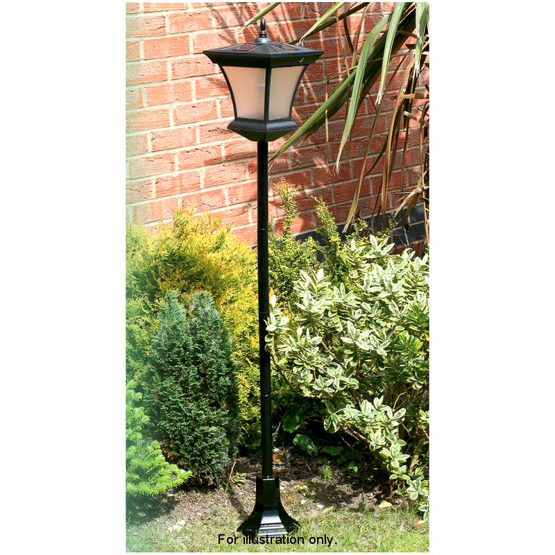 318722 130cm Solar Garden Lamp Post