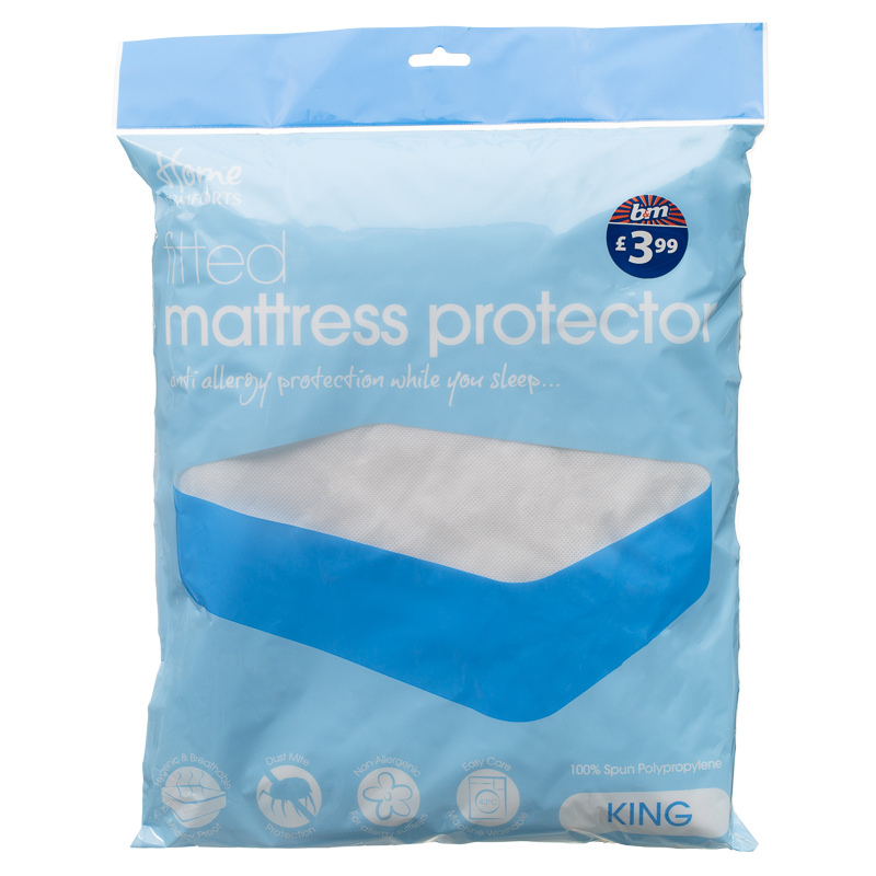 B&M Fitted Mattress Protector King Size - 234501 | B&M