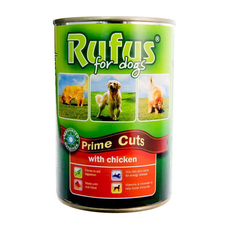 Rufus For Dogs Prime Cuts With Chicken 400g