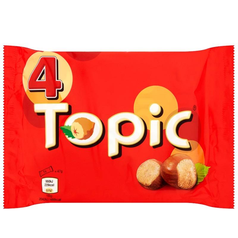 Topic 4 X 47g Chocolate Bars Chocolate B Amp M Stores