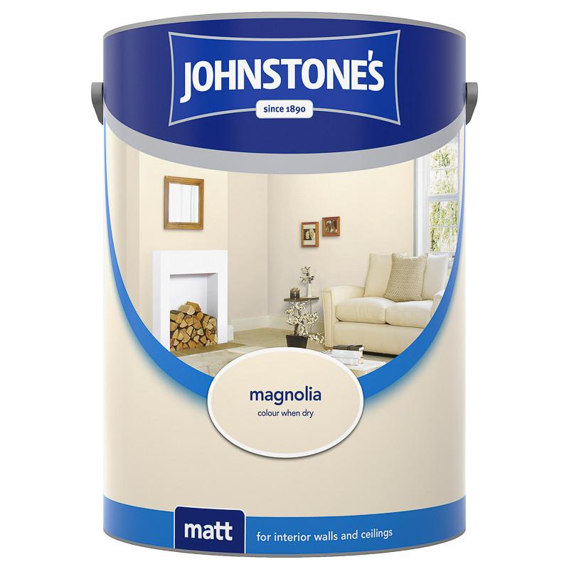 johnstone 39 s matt emulsion magnolia 5l paint diy painting. Black Bedroom Furniture Sets. Home Design Ideas