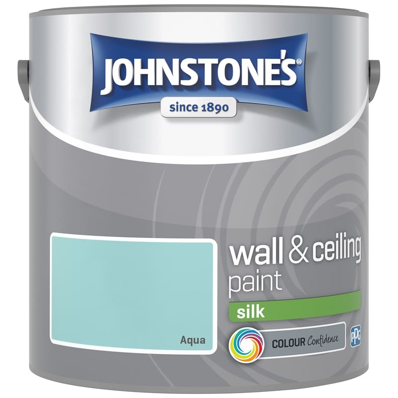 Johnstone's Paint Vinyl Silk Emulsion - Aqua 2.5L