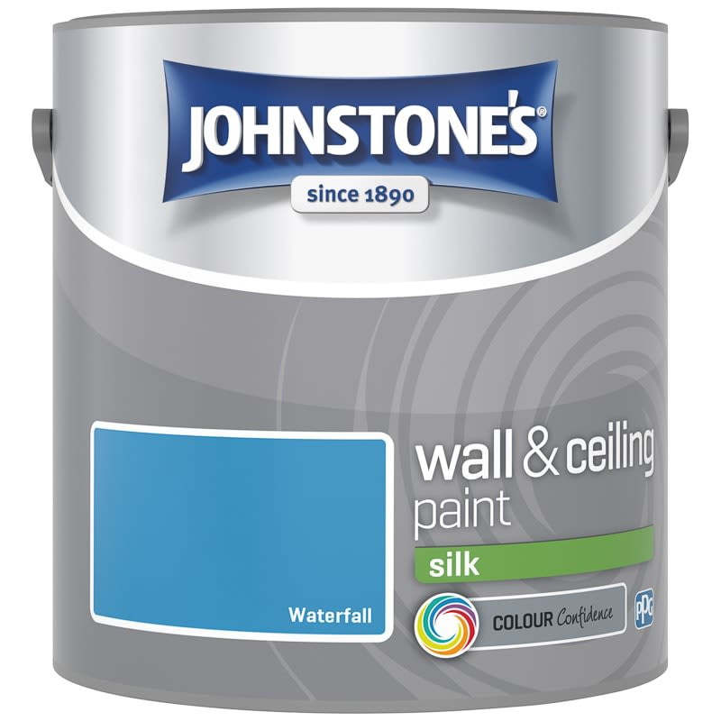 Johnstone's Paint Vinyl Silk Emulsion - Waterfall 2.5L
