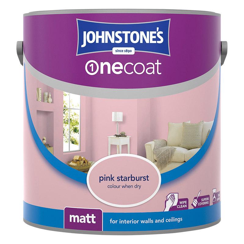 johnstone 39 s paint one coat matt emulsion starburst 2 5l. Black Bedroom Furniture Sets. Home Design Ideas