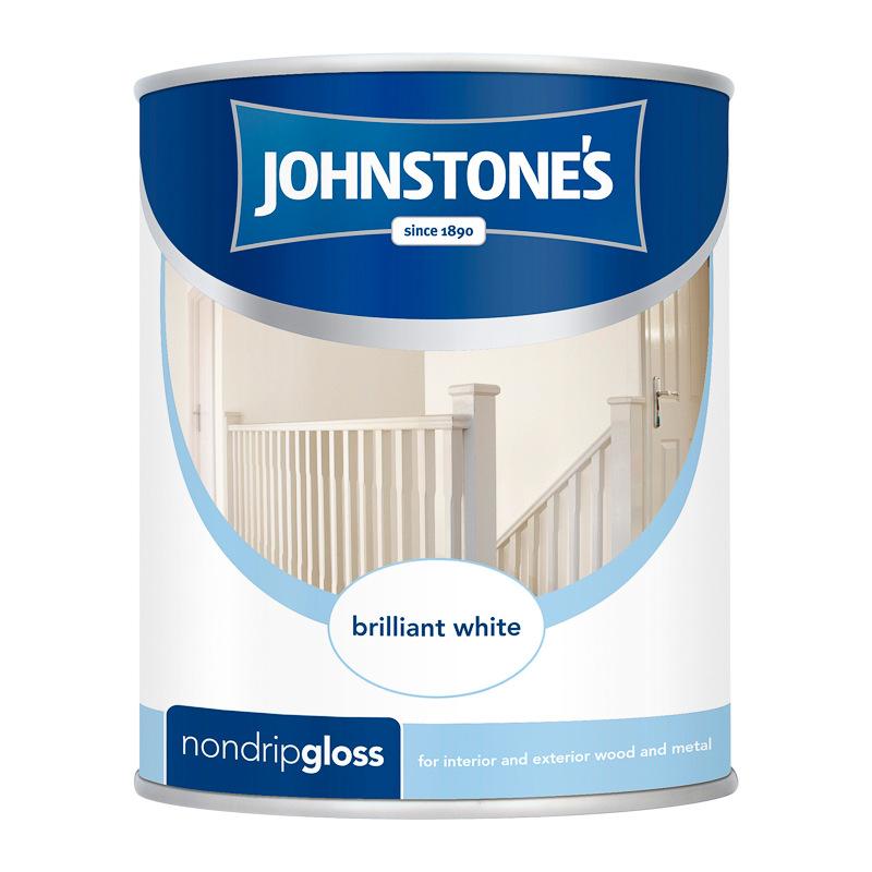 Johnstone 39 s non drip gloss paint brilliant white 750ml - Johnstones exterior paint set ...