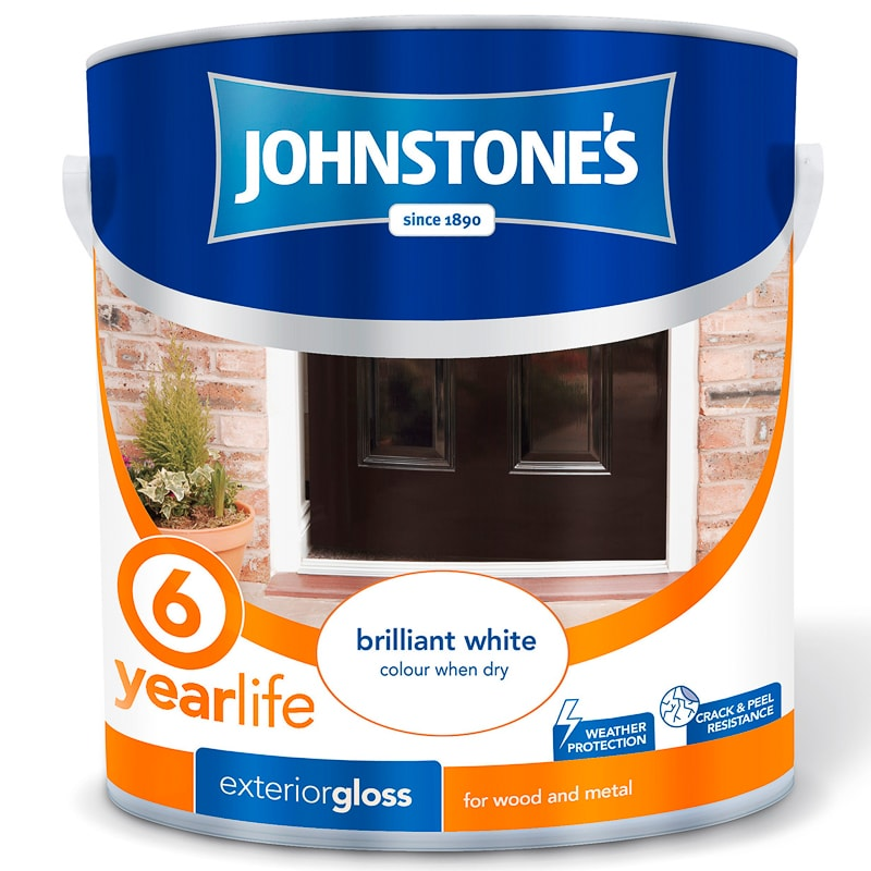 Johnstone 39 s paint exterior gloss brilliant white 750ml - Johnstones exterior paint set ...