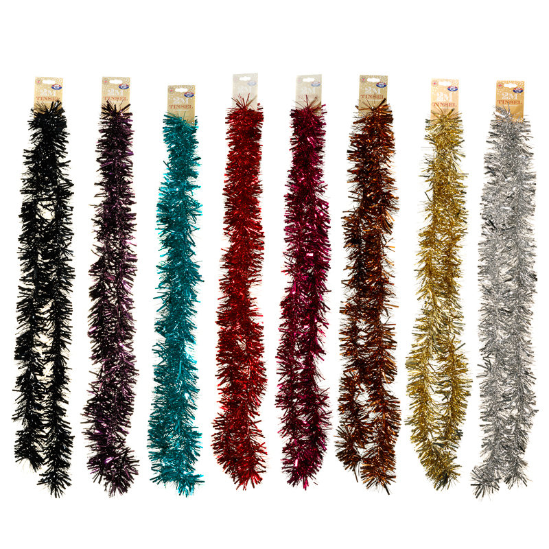 Christmas tinsel 2m christmas tree decorations b m for B m christmas decorations