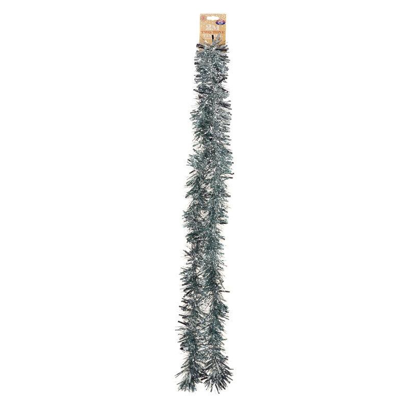 Christmas two tone chunky tinsel m tree decorations b