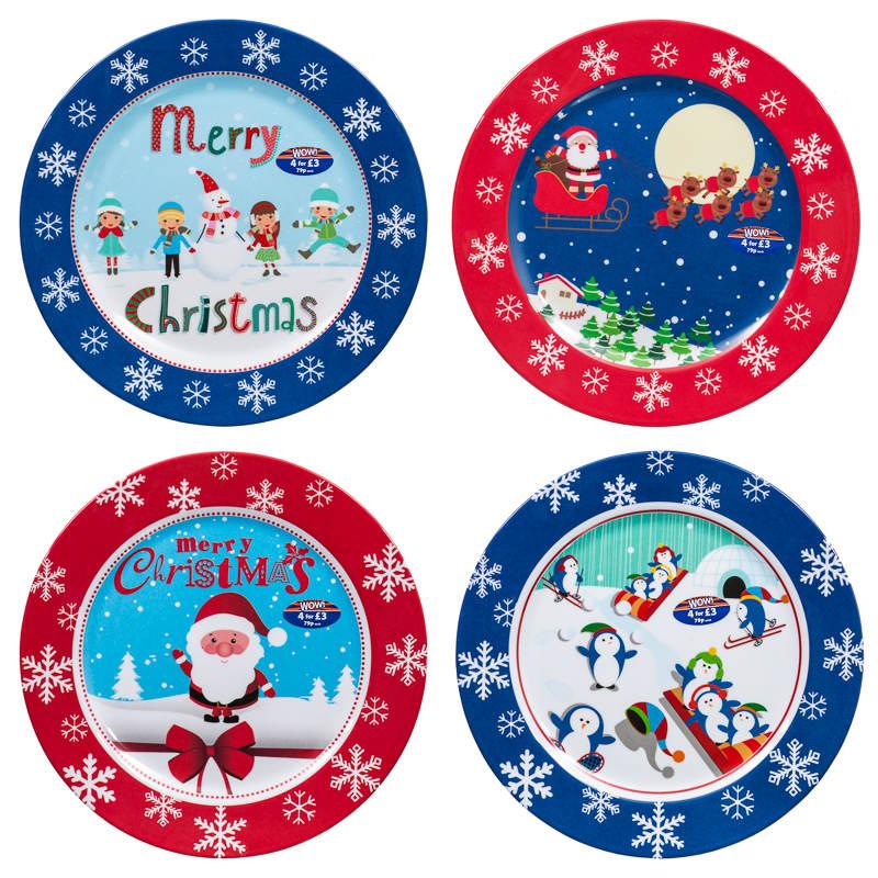 melamine christmas dinner plates tableware