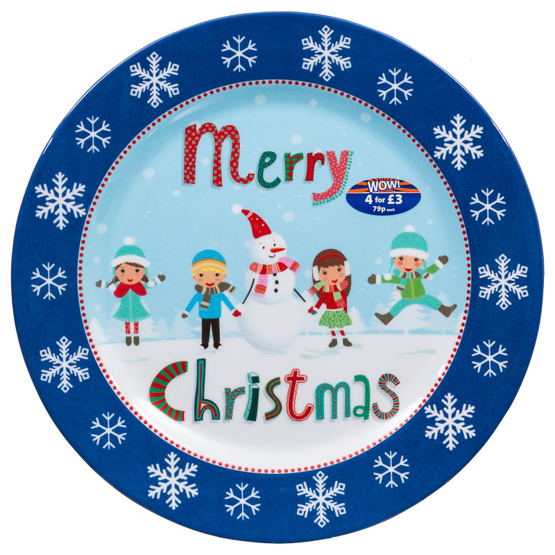 Melamine Christmas Dinner Plates