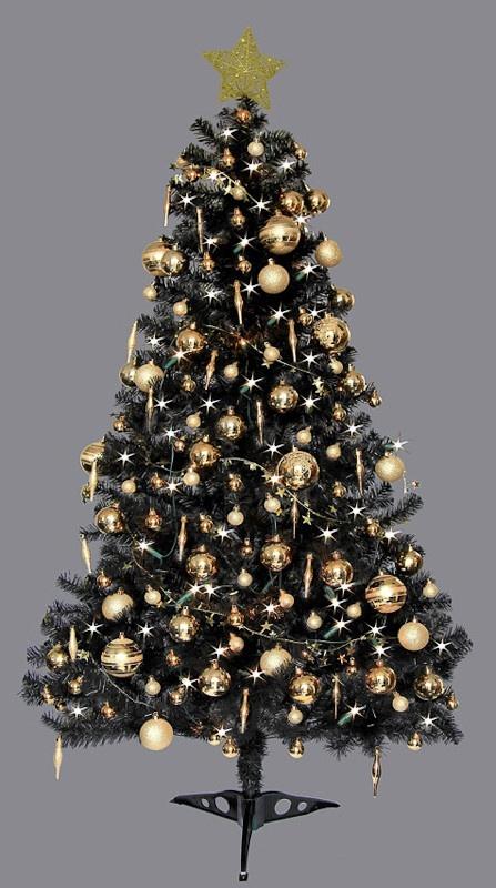 Home Christmas Christmas Trees Deluxe Black Christmas Tree   6ft 6MzazI5w