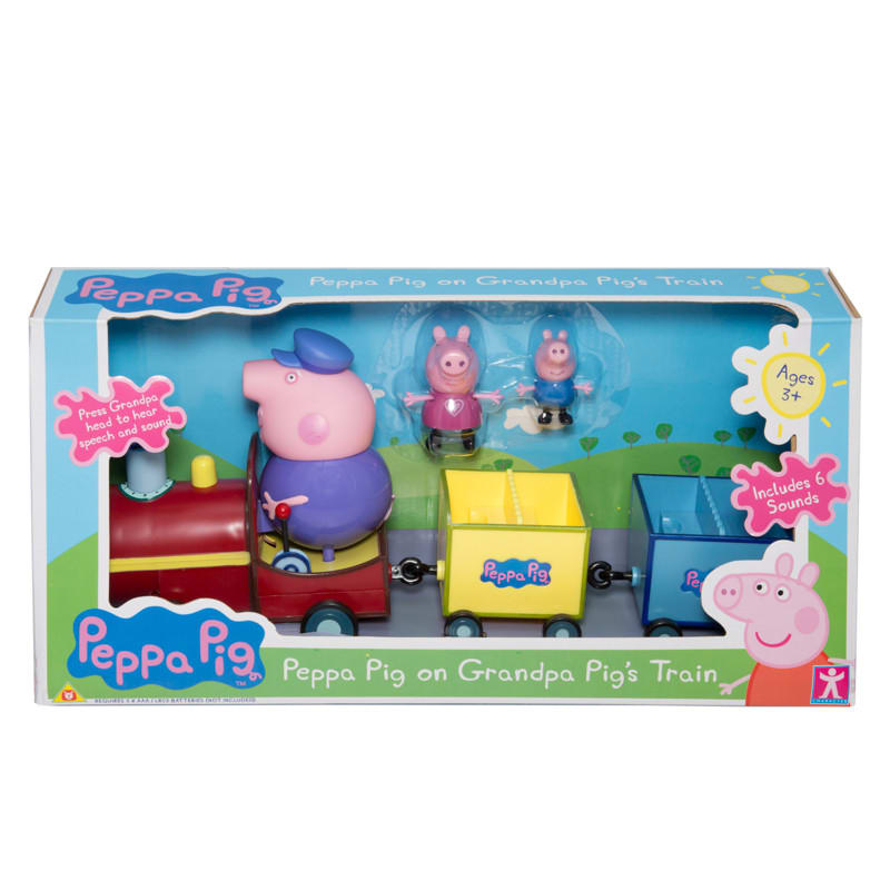 B Amp M Peppa Pig On Grandpa Pig S Train 238248 B Amp M