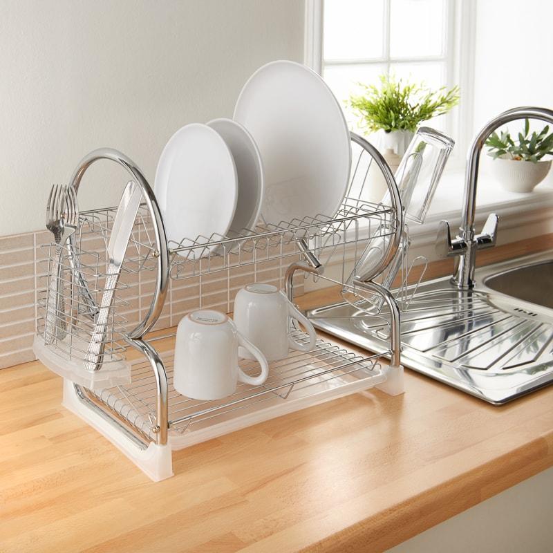 Dish Rack.Addis Dish Drainer Clear