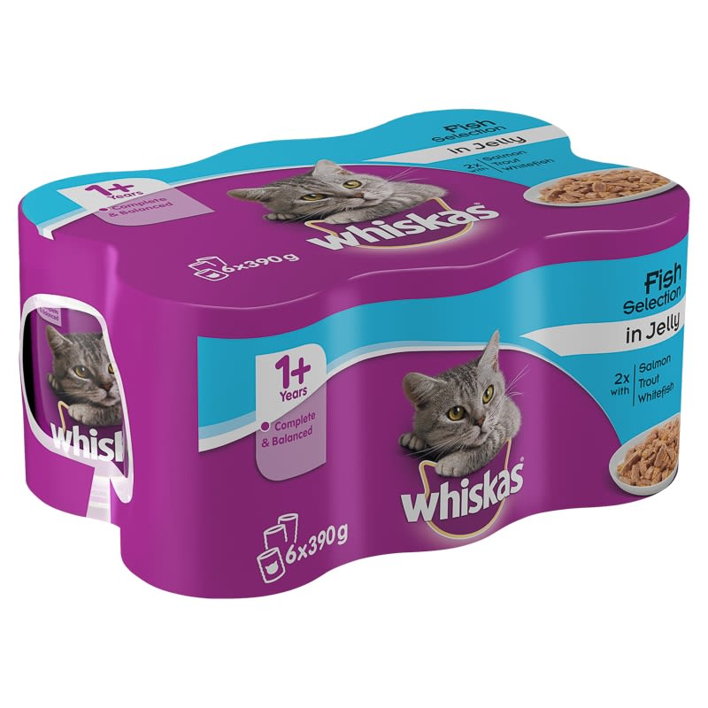 Whiskas Fish Selection in Jelly 6 x 390g
