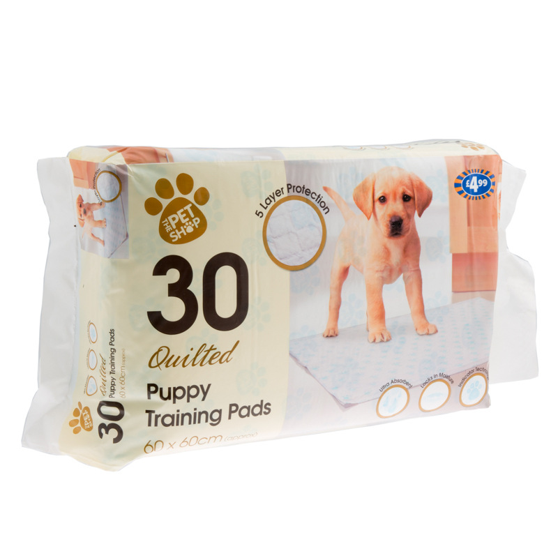 Quilted Puppy Training Pads 30pk 60 X 60cm Pets Dogs