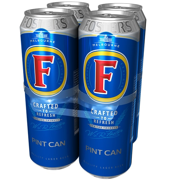 Foster S Lager 4 X 568ml Alcohol B Amp M
