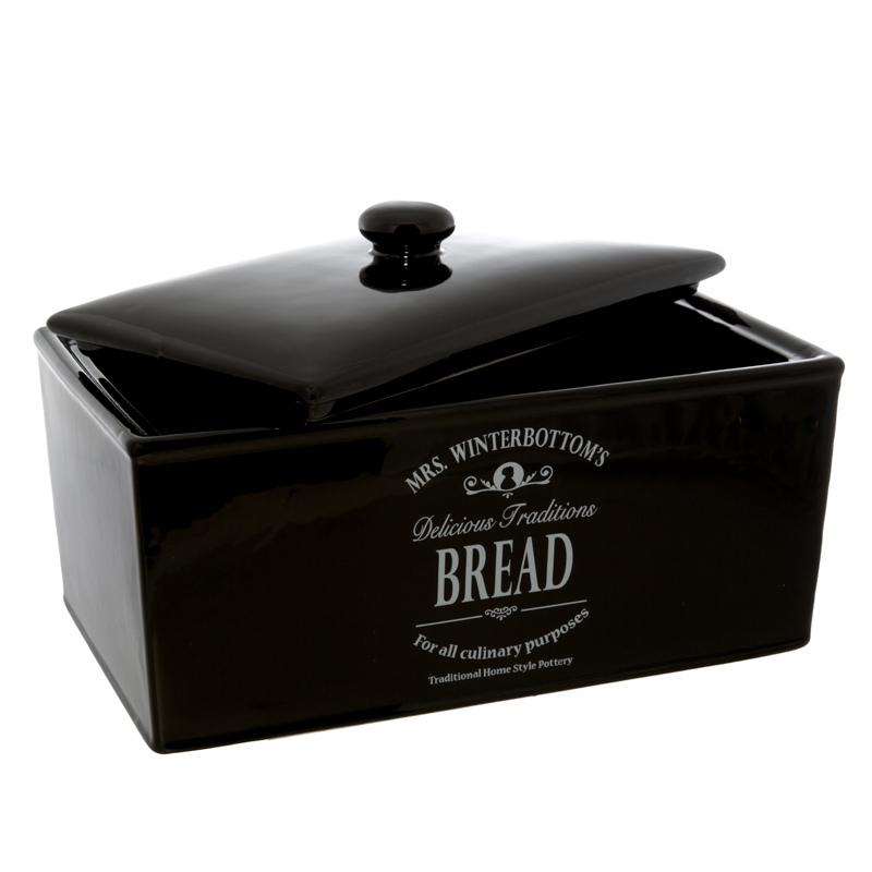 B Amp M Gt Mrs Winterbottom S Black Bread Bin 2459372