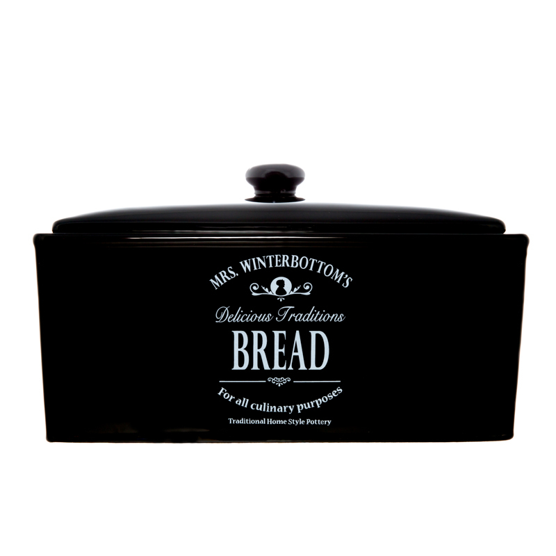 B Amp M Gt Mrs Winterbottom S Black Bread Bin 2459372