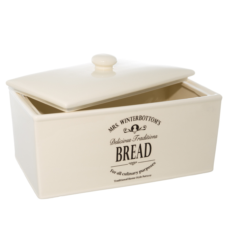 & Living Kitchen Kitchen Storage Mrs Winterbottom's Cream Bread Bin