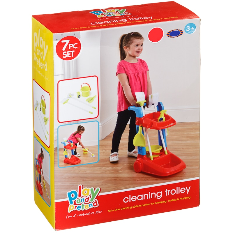 Cleaning Trolley Set Toys Kids Role Play B Amp M