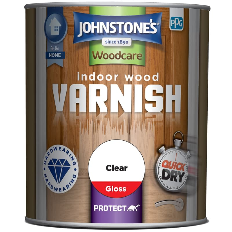 Johnstone's Quick Dry Varnish Clear Gloss 750ml
