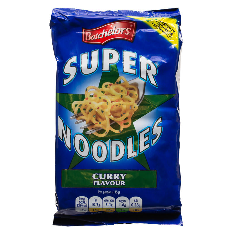 Batchelors Super Noodles 90g Mild Curry Flavour