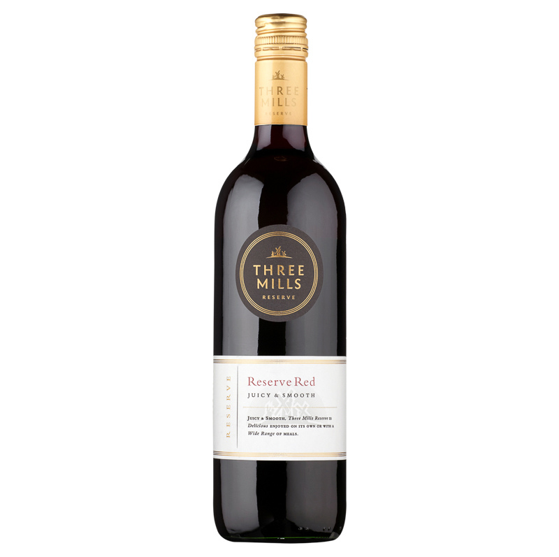 Three Mills Reserve Red Wine 75cl Alcohol Wine