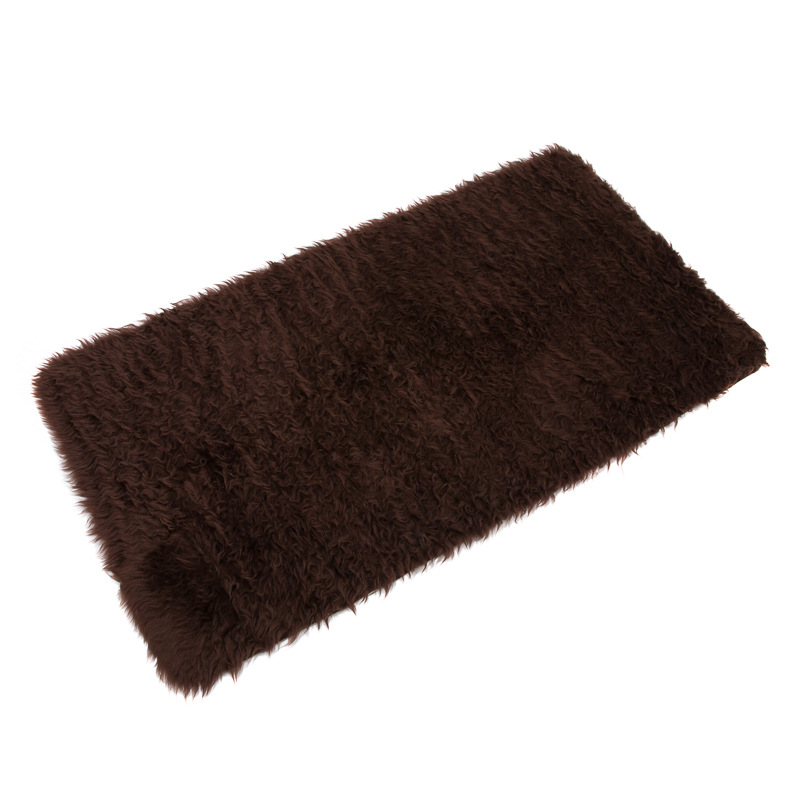 b m fluffy rug 70 x 130cm brown 2530593