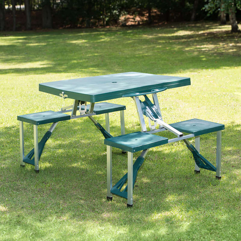 Folding picnic table 4 seater camping outdoors for Table camping