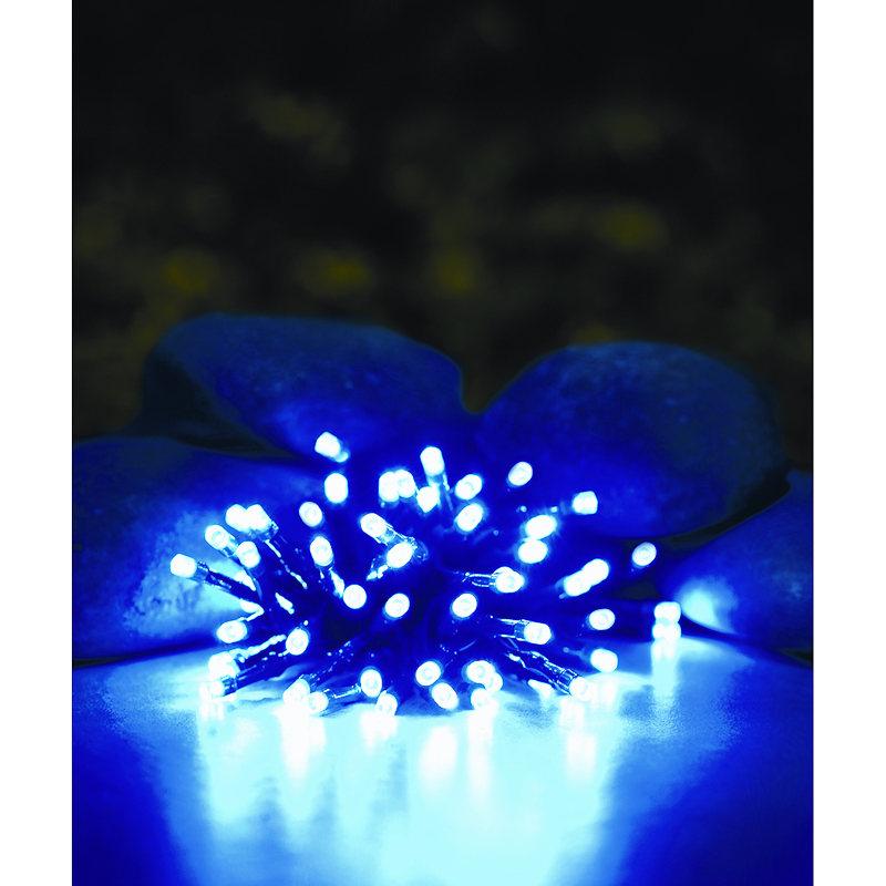 50 Solar Led String Lights Blue : B&M: > 50 Solar LED String Lights - Blue - 254204