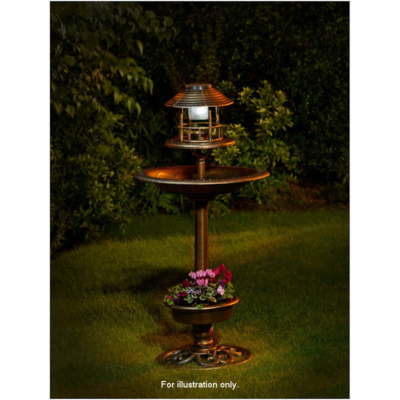B Amp M 3 In 1 Bird Bath With Solar Light Amp Planter 319861 B Amp M