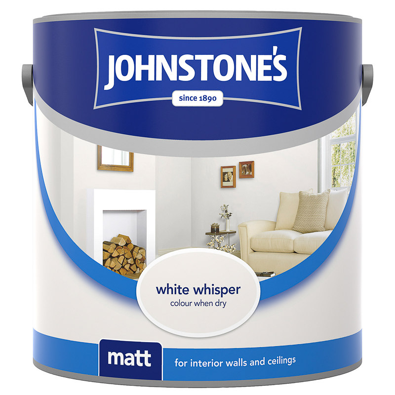Johnstone S Matt Emulsion White Whisper 2 5l Paint Diy