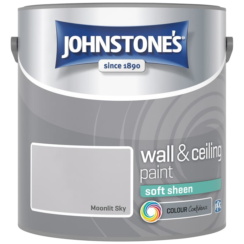 Johnstone's Paint Vinyl Soft Sheen Emulsion - Moonlit Sky 2.5L