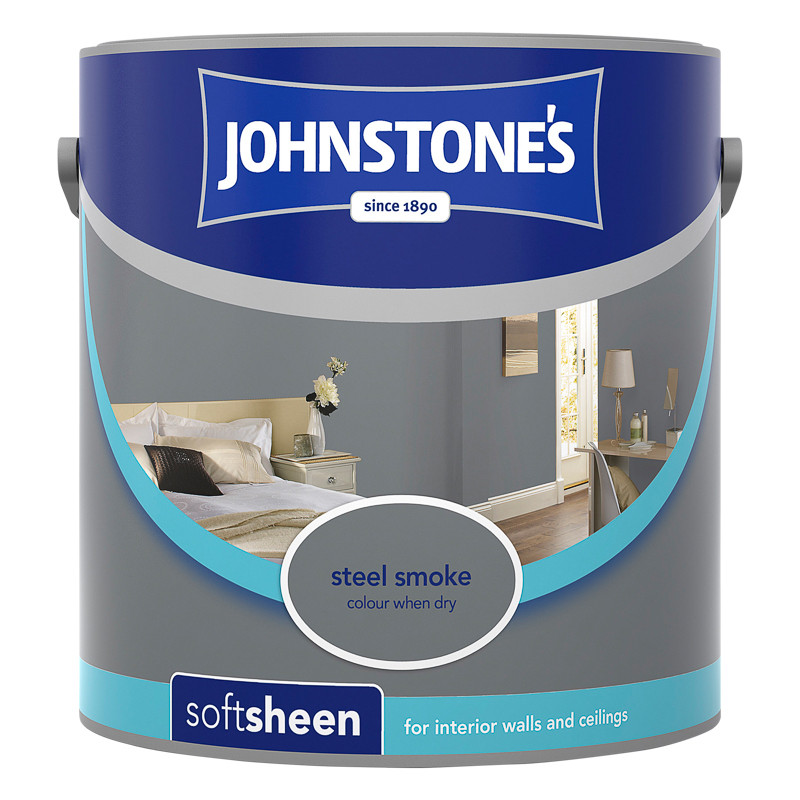 Johnstone S Paint Vinyl Soft Sheen Steel Smoke 2 5l