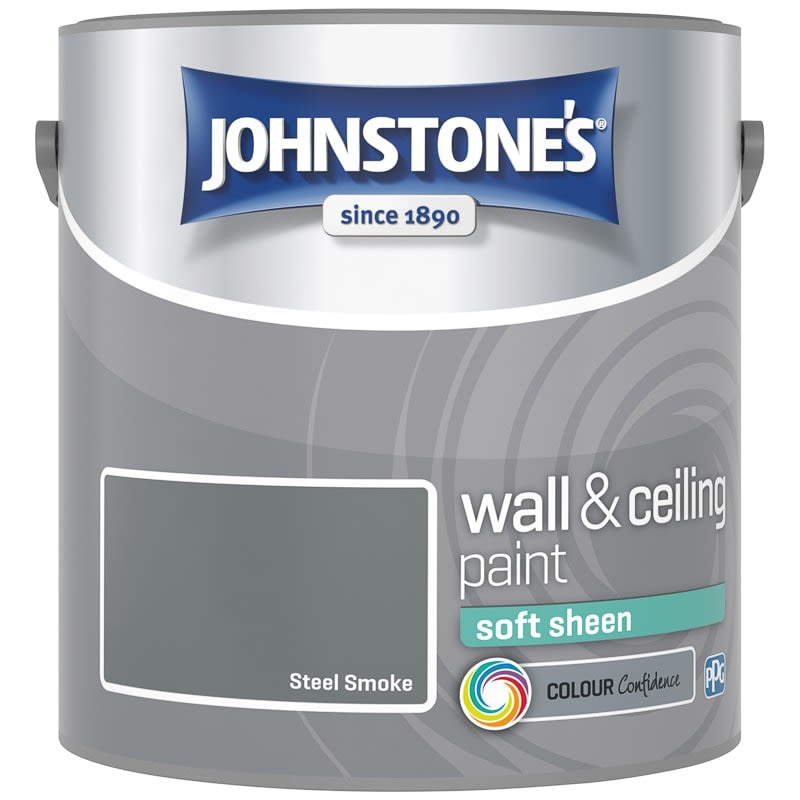 Johnstone's Paint Vinyl Soft Sheen Emulsion - Steel Smoke 2.5L