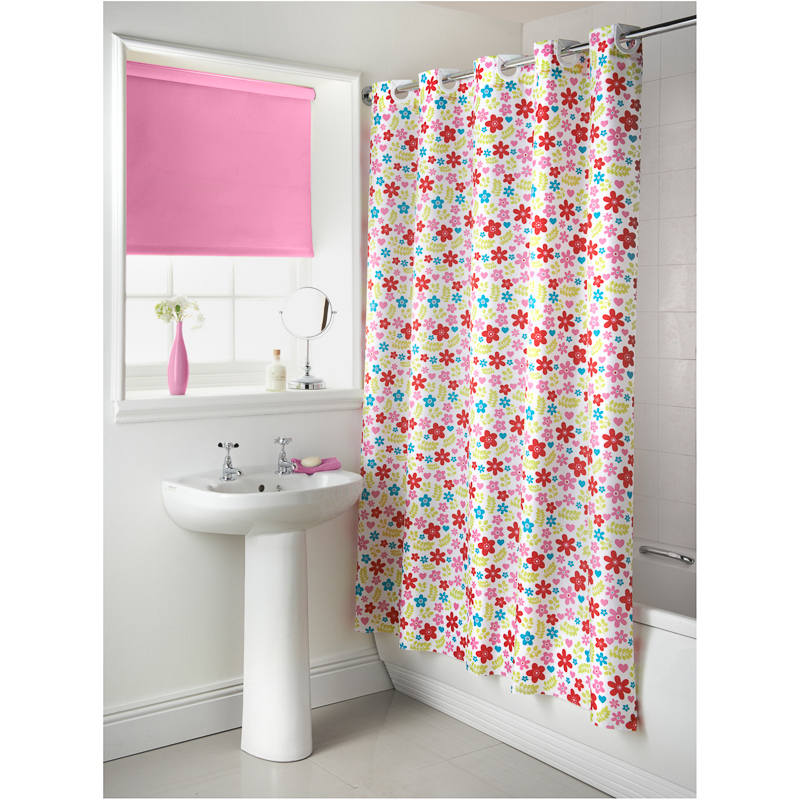 Hookless Machine Washable Shower Curtain 180cm X 185cms Easy To Hang Polyester Ebay